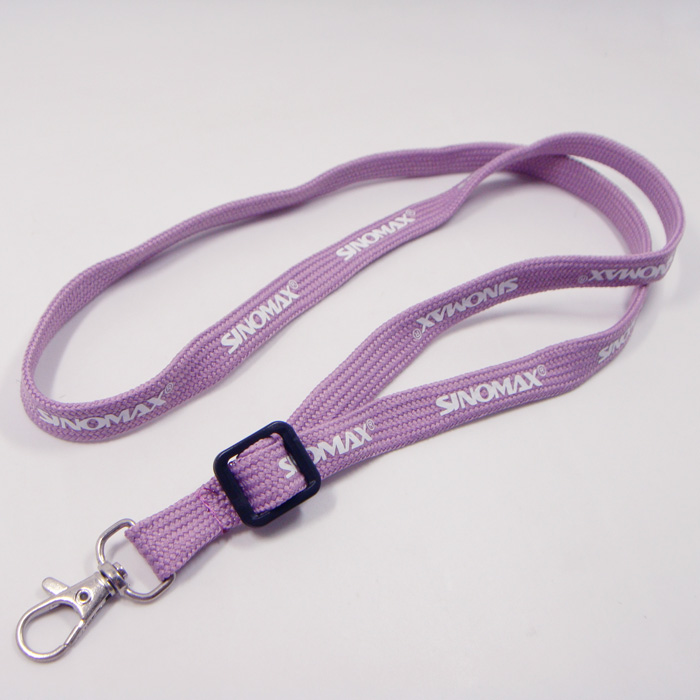 Custom wrist design purple color name badges holder tubular neck strap