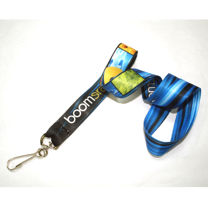 Cheap custom badge holders sublimation polyester design lanyards