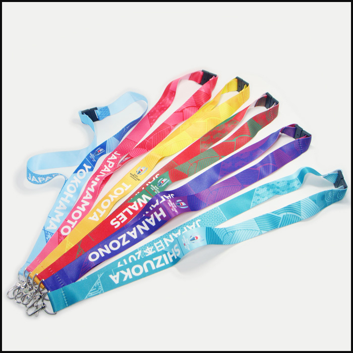 Polyester sublimation cutom design logo activing neck lanyards
