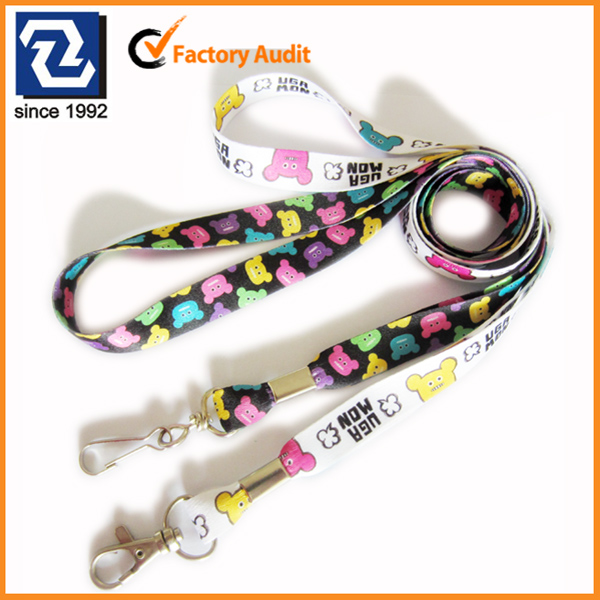 Small sublimation lanyards blank key chain for kids